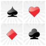 Símbolos do cartão do jogo ilustração do vetor