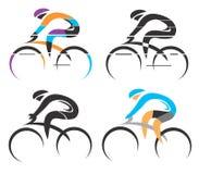 Símbolos do ciclismo Fotografia de Stock