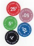 Símbolos do cupão de alimentação Foto de Stock Royalty Free