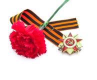 Símbolos do dia da vitória do russo Fotografia de Stock