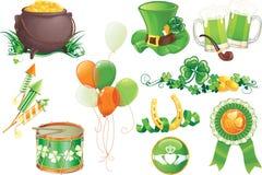 Símbolos do dia de St.Patrick Foto de Stock