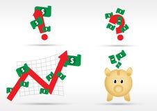 Símbolos do dinheiro ilustração do vetor