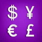 Símbolos do dinheiro Foto de Stock