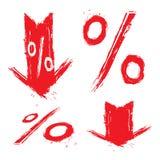 Símbolos do disconto Fotografia de Stock