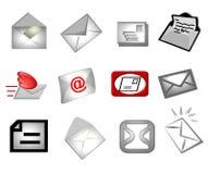 Símbolos do email ilustração stock