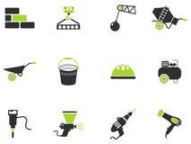 Símbolos do equipamento da construção Imagem de Stock