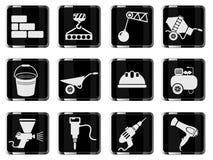 Símbolos do equipamento da construção Imagem de Stock Royalty Free