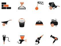 Símbolos do equipamento da construção Fotografia de Stock Royalty Free