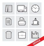 Símbolos do escritório do vetor Fotografia de Stock Royalty Free