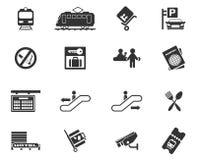 Símbolos do estação de caminhos-de-ferro Imagem de Stock