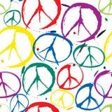 Símbolos do fundo sem emenda da paz Fotografia de Stock Royalty Free