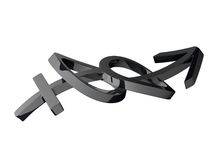 símbolos do gênero do casamento 3d Imagens de Stock