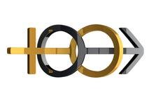 símbolos do gênero do casamento 3d Imagem de Stock