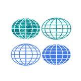 Símbolos do globo Foto de Stock