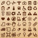Símbolos do hospital ilustração do vetor