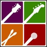 Símbolos do instrumento de música Imagem de Stock Royalty Free