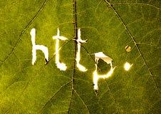 Símbolos do Internet fotografia de stock