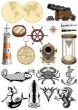 Símbolos do mar Imagens de Stock