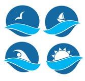 Símbolos do mar e da aventura do verão Imagem de Stock Royalty Free