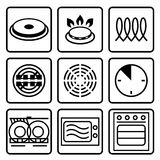 Símbolos do metal do produto comestível Fotografia de Stock