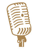 Símbolos do microfone Imagens de Stock Royalty Free