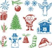 Símbolos do Natal Fotos de Stock
