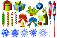 Símbolos do Natal Imagem de Stock Royalty Free