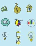Símbolos do negócio Fotografia de Stock Royalty Free