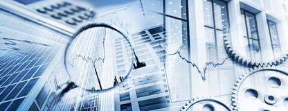 Símbolos do negócio e da finança Foto de Stock