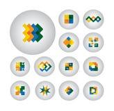 Símbolos do negócio, elementos do projeto, ícones lisos - gráfico de vetor Fotos de Stock Royalty Free