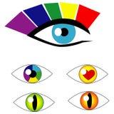 Símbolos do olho do vetor Imagens de Stock Royalty Free
