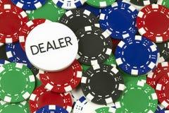 Símbolos do póquer foto de stock