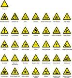 Símbolos do perigo Foto de Stock Royalty Free
