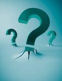 Símbolos do ponto de interrogação Imagem de Stock Royalty Free