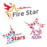 Símbolos do projeto de estrelas ardentes Imagens de Stock Royalty Free