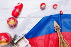 Símbolos do russo fotos de stock