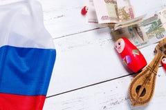 Símbolos do russo fotografia de stock