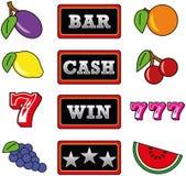 Símbolos do slot machine Imagens de Stock Royalty Free