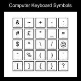 Símbolos do teclado de computador ilustração do vetor