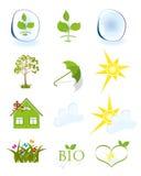 Símbolos do tempo e da ecologia Foto de Stock