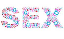 Símbolos do texto do sexo vários brancos Imagens de Stock Royalty Free