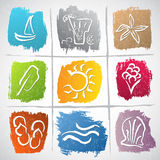 Símbolos do verão Imagens de Stock Royalty Free