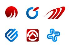 Símbolos do vetor Imagem de Stock Royalty Free