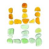 Símbolos do vidro do mar Imagem de Stock Royalty Free