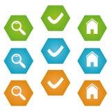 Símbolos do Web Imagens de Stock Royalty Free