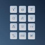 Símbolos do zodíaco Fotografia de Stock Royalty Free