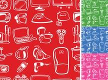 Símbolos dos aparelhos electrodomésticos sem emenda Imagens de Stock