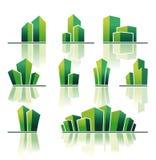 Símbolos dos bens imobiliários Imagem de Stock Royalty Free