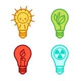Símbolos dos bulbos Fotografia de Stock
