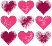 Símbolos dos corações Fotografia de Stock Royalty Free